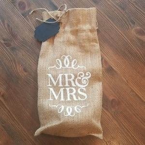Mr & Mrs Wine Bag